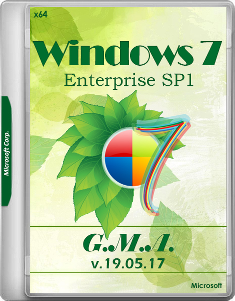 Windows 7 Enterprise SP1 G.M.A. v.19.05.17 (x64/RUS)