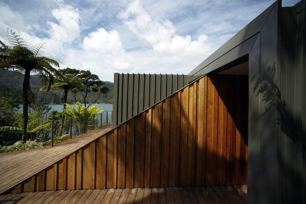 Великолепный дом от архитектурной фирмы мва – умиротворяющее спокойствие девственного леса, мальборо, новая зеландия
