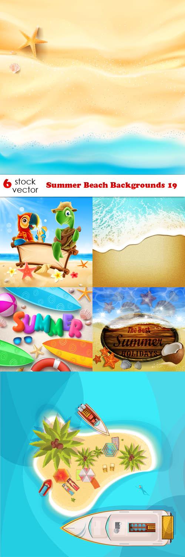 Векторный клипарт - Summer Beach Backgrounds 19