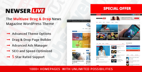 [GET] Nulled Newser v1.0.5 - The Multiuse Drag and Drop News Magazine