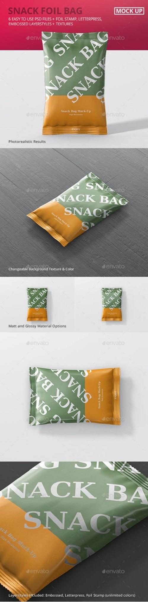 Snack Foil Bag Mockup 20230164