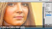 Обработка портрета Девушка с цветами (2017) HDRip