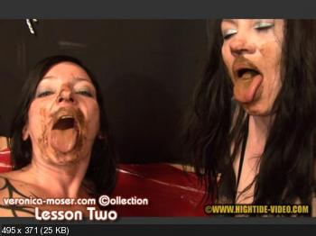 Hightide-Video (Veronica Moser, Rieke) VM58 - LESSON TWO [SD] Lesbians, Defecation
