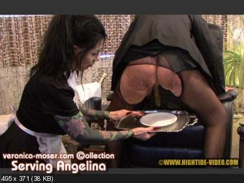 Hightide Scat (Veronica Moser, Angelina) VM44 - SERVING ANGELINA [HD 720p] Lesbians, Smoking, Mature
